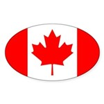 Canada Flag Sticker (Oval 10 pk)