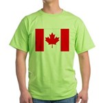Canada Flag Green T-Shirt