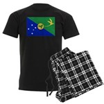 Christmas Island Flag Men's Dark Pajamas