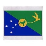Christmas Island Flag Throw Blanket