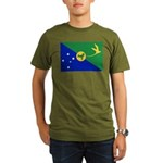 Christmas Island Flag Organic Men's T-Shirt (dark)