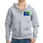 Christmas Island Flag Women's Zip Hoodie