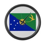 Christmas Island Flag Large Wall Clock