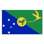 Christmas Island Flag Sticker (Rectangle 10 pk)