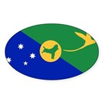 Christmas Island Flag Sticker (Oval 10 pk)