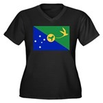 Christmas Island Flag Women's Plus Size V-Neck Dar