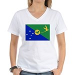 Christmas Island Flag Women's V-Neck T-Shirt