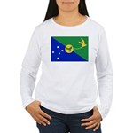 Christmas Island Flag Women's Long Sleeve T-Shirt