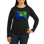 Christmas Island Flag Women's Long Sleeve Dark T-S