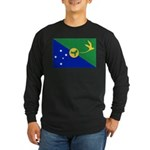Christmas Island Flag Long Sleeve Dark T-Shirt