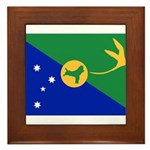 Christmas Island Flag Framed Tile