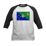 Christmas Island Flag Kids Baseball Jersey