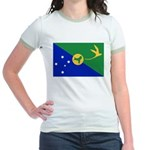 Christmas Island Flag Jr. Ringer T-Shirt
