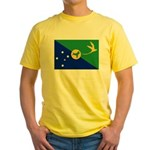 Christmas Island Flag Yellow T-Shirt