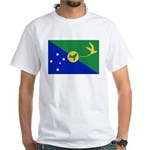 Christmas Island Flag White T-Shirt