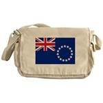 Cook Islands Flag Messenger Bag