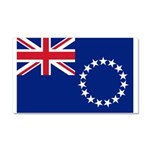Cook Islands Flag Car Magnet 20 x 12