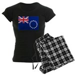 Cook Islands Flag Women's Dark Pajamas