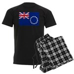 Cook Islands Flag Men's Dark Pajamas
