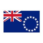 Cook Islands Flag 38.5 x 24.5 Wall Peel