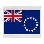 Cook Islands Flag Throw Blanket