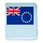 Cook Islands Flag baby blanket