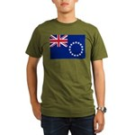 Cook Islands Flag Organic Men's T-Shirt (dark)