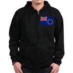 Cook Islands Flag Zip Hoodie (dark)