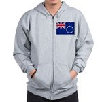 Cook Islands Flag Zip Hoodie
