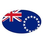 Cook Islands Flag Sticker (Oval 10 pk)