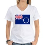 Cook Islands Flag Women's V-Neck T-Shirt
