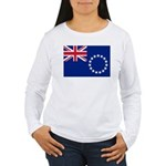 Cook Islands Flag Women's Long Sleeve T-Shirt