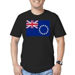 Cook Islands Flag Men's Fitted T-Shirt (dark)
