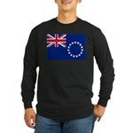 Cook Islands Flag Long Sleeve Dark T-Shirt