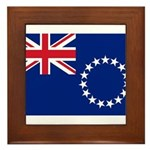 Cook Islands Flag Framed Tile