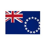 Cook Islands Flag Rectangle Magnet (10 pack)