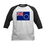 Cook Islands Flag Kids Baseball Jersey