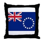 Cook Islands Flag Throw Pillow
