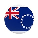 Cook Islands Flag Ornament (Round)