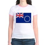 Cook Islands Flag Jr. Ringer T-Shirt