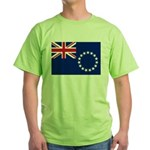 Cook Islands Flag Green T-Shirt