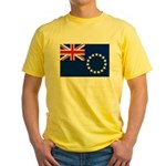 Cook Islands Flag Yellow T-Shirt
