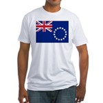 Cook Islands Flag Fitted T-Shirt