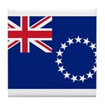 Cook Islands Flag Tile Coaster