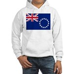 Cook Islands Flag Hooded Sweatshirt