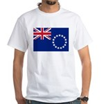 Cook Islands Flag White T-Shirt