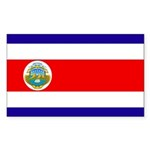 Costa Rica Flag Sticker (Rectangle 10 pk)