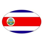 Costa Rica Flag Sticker (Oval 10 pk)