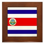 Costa Rica Flag Framed Tile