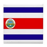 Costa Rica Flag Tile Coaster